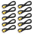 10Pcs BNC Male to RCA Female 75ohm Coaxial Cables CCTV Surveillance Camera 1M
