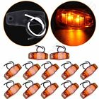 12pc 2.5'' Amber 2 Diodes Clearance Lamp Surface Mount Side Marker Light Trailer