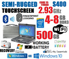 GETAC S400 SEMI-RUGGED LAPTOP i5 TURBO 2.93GHz 4G-8GB 500GB TOUCHSCREEN WINDOWS