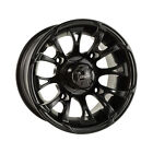 DWT ATV UTV Wheel Nitro 12X7 4+3 4/137 Black 989-30B