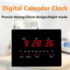 Modern Digital LED Wall Desk Alarm Clock with Calendar Temperature Office Home