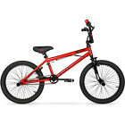 """Boys Freestyle Bmx Bike Red Steel Frame Foot Pegs Bicycle 20"""" Inch Stunts New"""