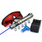 B808  450nm Adjustable Focus Blue Laser Pointer & Star & Battery&Charger&Goggles