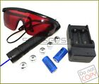 B609  450nm Adjustable Focus Blue Laser Pointer & Star & Battery&Charger&Goggles