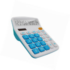 Large LCD 12 Digit Calculator Display Solar Battery Dual Power Big Buttons Blue