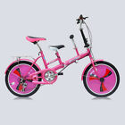 Folding Tandem Mother Bike Bicycle 3 Speed 20 Inch Two Seaters Parents Baby Bike
