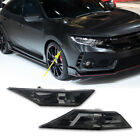 2016-2018 10th Honda Civic Smoked Lens Side Marker Lights DRL Indicator Covers