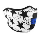 THIN BLUE LINE POLICE SUPPORT Cold Weather All Season Half Face Mask Neoprene