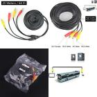 66Ft Rca Plug Dc Power Cord Video Av Extension Cable For Cctv Security Car Truck