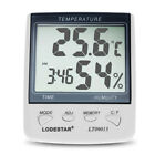 Digital LCD Temperature Thermometer Humidity Time Clock Display Time Alarm Tools