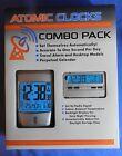 NEW ATOMIC CLOCK COMBO PACK RADIO CONTROLED TRAVEL ALARM & DESKTOP 87560