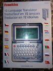 Brand New, Franklin TG-450 12 Language Translator Chez, German, Spanish, More!