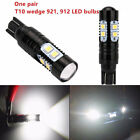 2Pcs 6000K White 50W High Power T10 921HID Cool White Backup Reverse Lights Bulb