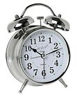 A2S Vintage Style Alarm Clock - Twin Bell, Analog & Battery Operated - Great for