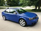 2004 Audi S4 S4 Quattro Audi S4 2004, Nogaro Blue Pearl, Silver Leather, One owner, 6-speed, Bone Stock