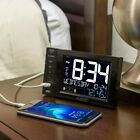 Table Clocks Desktop USB Charging Station Dual Alarms sound Nap Timer Bright