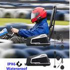 2 Intercom Motorcycle Helmet BT Interphone Headset 1200M GPS Radio Walkie Talkie