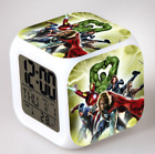 Avengers LED 7 Color Changing Digital Alarm Clock