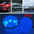 2x Magical Boat Car Truck Cup Drink Holder W/8LED Blue Light Hardware Accessory