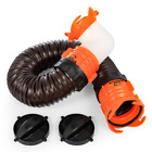 Sewer Hose Extension Kit RV Swivel Fitting Portable Tote Tank Accessory