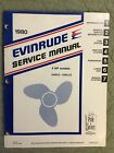 1980 EVINRUDE SERVICE MANUAL 4 HP OUTBOARD SHOP REPAIR MODELS E4WCS - E4RLCS