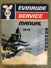 1975 EVINRUDE SERVICE MANUAL 50 HP OUTBOARD SHOP REPAIR FREE SHIPPING