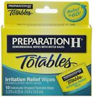 Preparation H Wipes, Totables, 10 Count Pack of 12