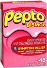 Pepto-Bismol Chewable Tablets Original 48 Tablets (Pack of 3)