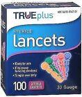 Trueplus Sterile Lancets 33 Gauge - 100 ct, Pack of 5