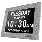 American Newest Version Day Clock Extra Large Impaired Vision Digital with & 5