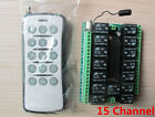 Dc 12v 10A relay 15CH wireless RF Remote Control Switch Transmitter+ Receiver