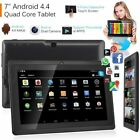 7 Inch Wifi Tablet Android 4.4 Quad Core 8G RAM Dual Camera! Black