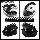 MOTORCYCLE HELMET MOHAWK SPIKES RUBBER STICKER HELMETS MOHAWKS BLACK ATV STREET