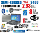 GETAC S400 SEMI-RUGGED LAPTOP i5-TURBO 2.93GHz 8GB 1TB SSHD TOUCHSCREEN WINDOWS+
