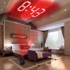 LED Mirror Alarm Clock Digital Snooze Table Wake Up Home Time Morning Bed Room