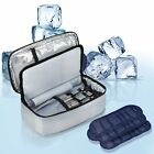 Insulin Travel Bag with 4 Ice Pack for Diabetic Organize Medication for 24 Hours