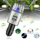 2 in 1 Car Dual USB Fresh Air Ionic Purifier Oxygen Bar Ozone Clear Cleaner CO