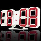 Famirosa 3D Luminous Digital Alarm Clock Dimmable Brightness 12 / 24h Display
