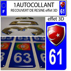 1 sticker plate registration auto DOMING 3D RESIN COAT OF ARMS TURKEY DEPARTURE