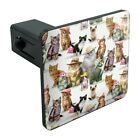 Cats Kittens in Hats Pattern Tow Trailer Hitch Cover Plug Insert