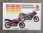 SUZUKI GS250 1984 Motorcycle Owners Sales Brochure Leaflet GS 250 GSX400 GSX 400