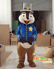 Cartoon Squirrel Mascot Costume Outfit Dress Character Cosplay Party Unisex Suit