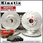 Front Rear Drilled Grooved Brake Discs Pads KDC1708 MDB2638 KDC2729 MDB3060