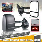 Power Arrow Light Towing Mirrors Fit 2007-2013 Chevy Silverado 1500/2500/2500HD