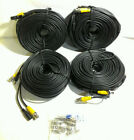 Hykamic 150ft BNC Video Power Cable Security Camera Wire Cord (4 Pack)