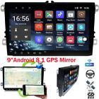 "9""Android 8.1 GPS Navi Car Radio BT USB RDS For VW Passat Seat Golf Touran Jetta"