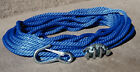 "100' 3/8"" Blue Boat Marine Anchor Rope Kit w/ Snap Hook & No Tie Cleat"