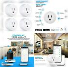 Esicoo Wi-Fi Smart Plug Outlet 4 Pack,Timer Mini Socket Compatible with...