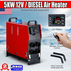 12V 5KW Diesel Air Heater w/LCD Monitor Switch+4 Pipe For Truck Car Boat Trailer