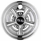 "4pcs 8"" SS Chrome Golf Cart Wheel Cover Hub Cap for EZGO Club Car Yamaha 8IN"